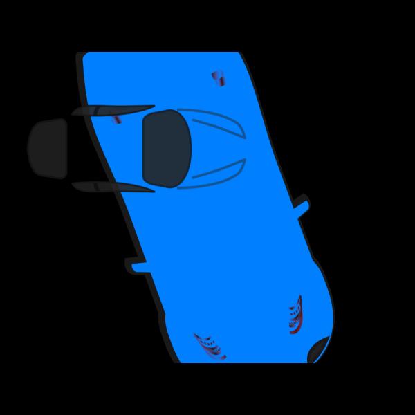 Blue Car - Top View - 290 PNG Clip art