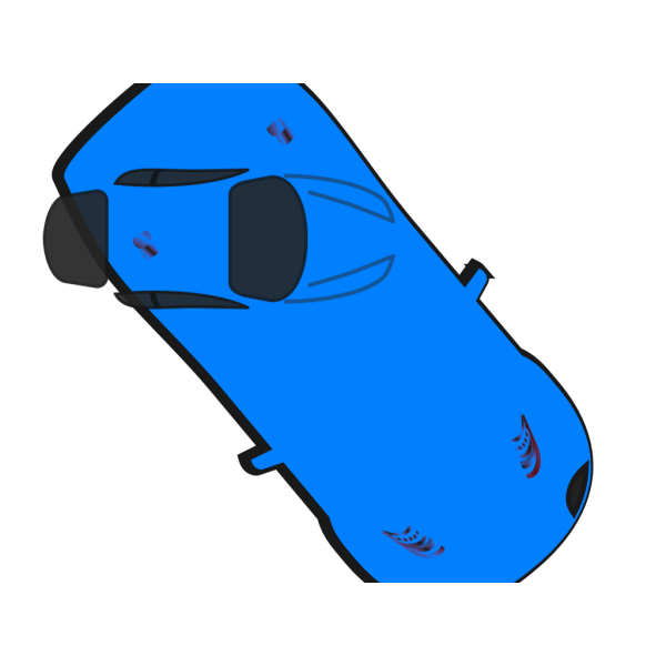 Blue Car - Top View - 310 PNG icons