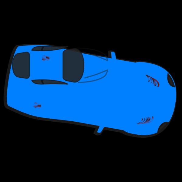 Blue Car - Top View - 350 PNG Clip art