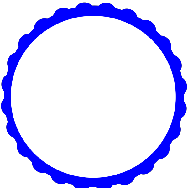 Blue Scallop Circle Frame PNG images