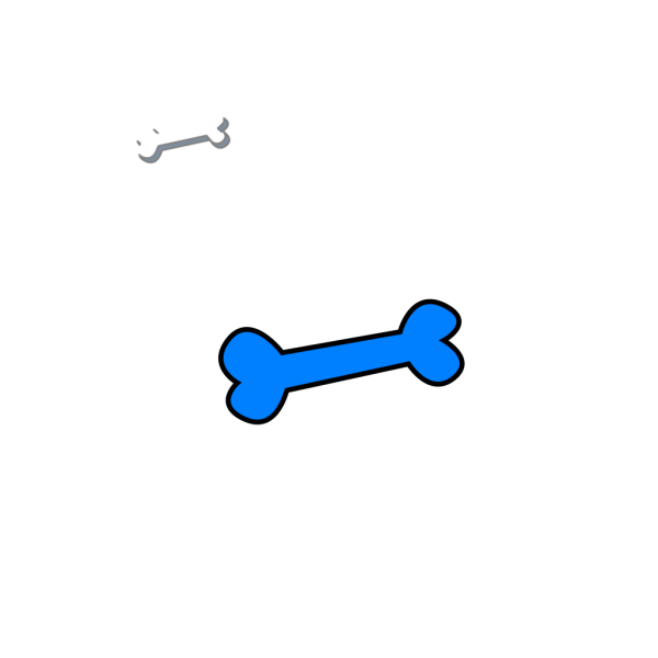 Blue Single Bone PNG icons