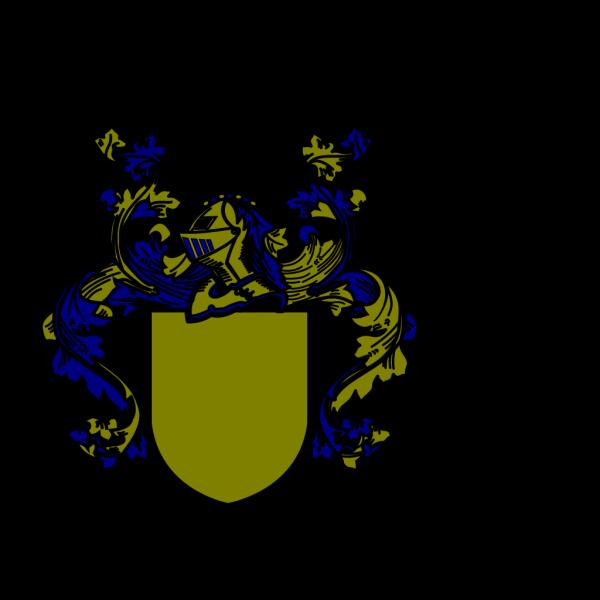 Bluegold Cross PNG Clip art