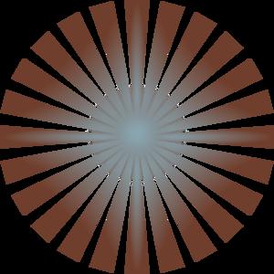Light Blue Sun Rays PNG Clip art