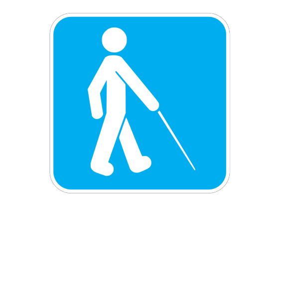 Blue Visually Impaired PNG Clip art
