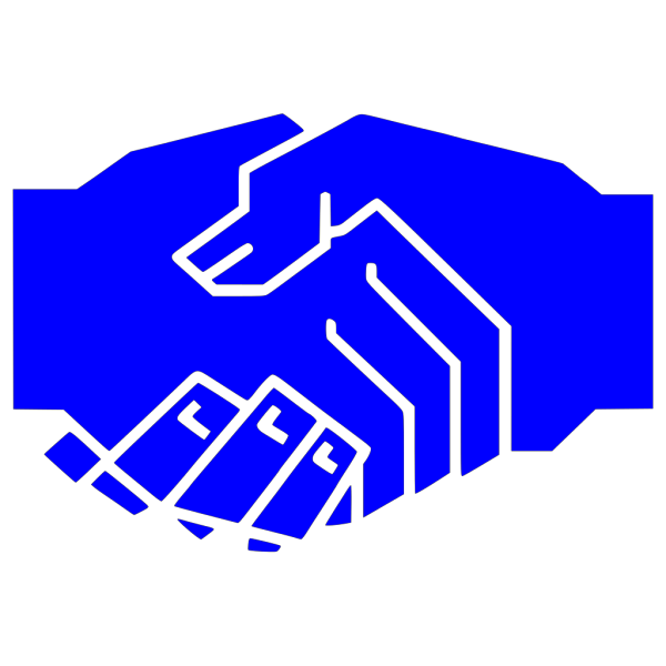 Blue Hand Shake PNG Clip art