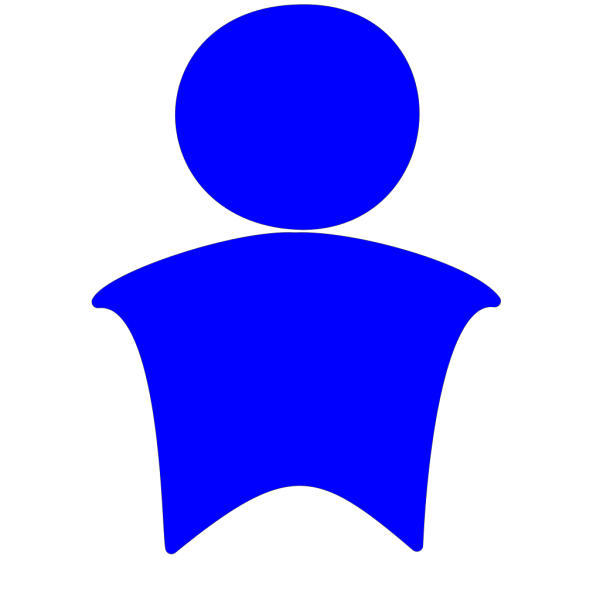 Blue Little Guy PNG Clip art
