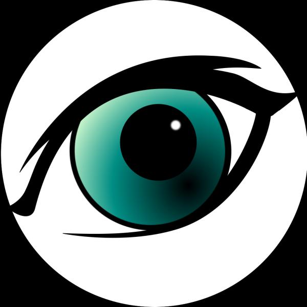 Blue Cartoon Eye PNG Clip art