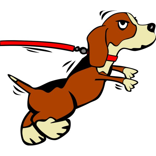 Dog On Leash Cartoon 2 PNG Clip art