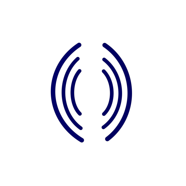 Radio Waves Blue PNG Clip art