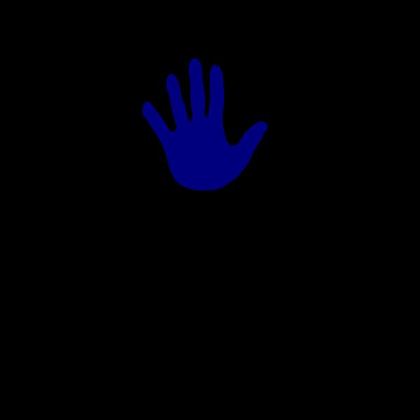 Hand Blue Left PNG Clip art