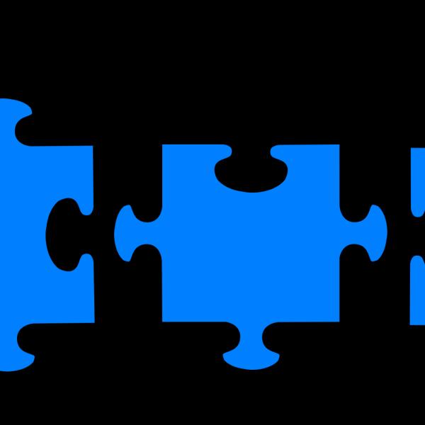 Jigsaw Puzzle Blue PNG Clip art