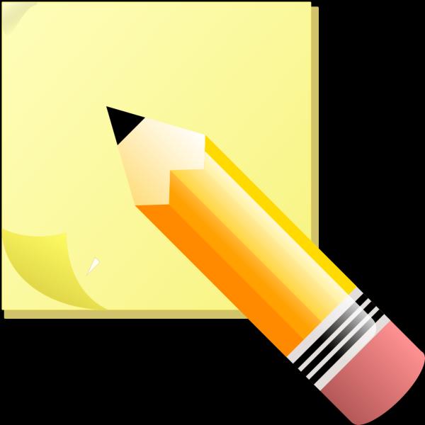 Blue Pencil Write PNG Clip art
