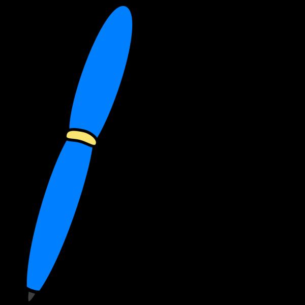 Blue Pen Write PNG Clip art