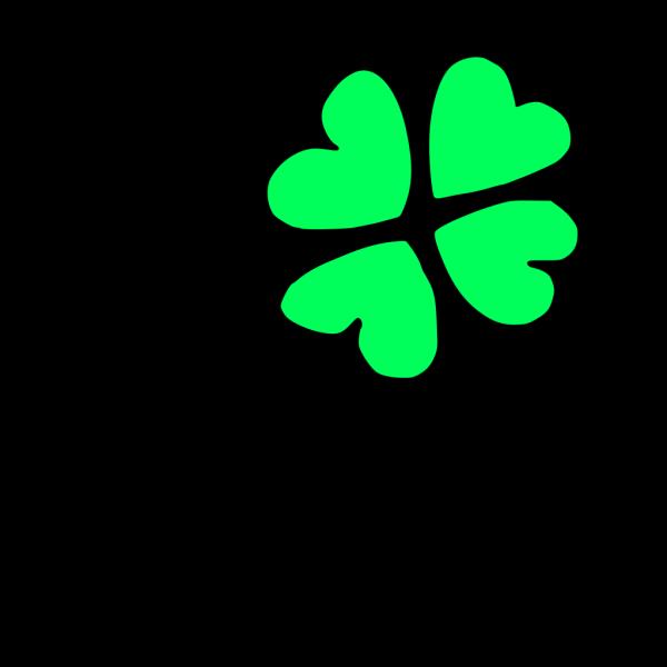 Blue Four Leaf Clover PNG Clip art