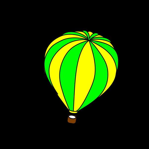 Hot Air Balloon Green PNG Clip art