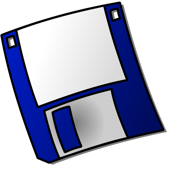 Blue Floppy Disk PNG clipart