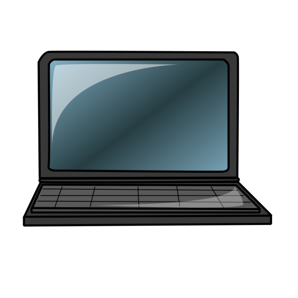 Laptop With Blue Screen PNG Clip art