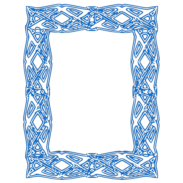Blue Border Light PNG Clip art