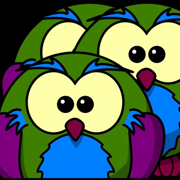 Multicolour Owl PNG Clip art
