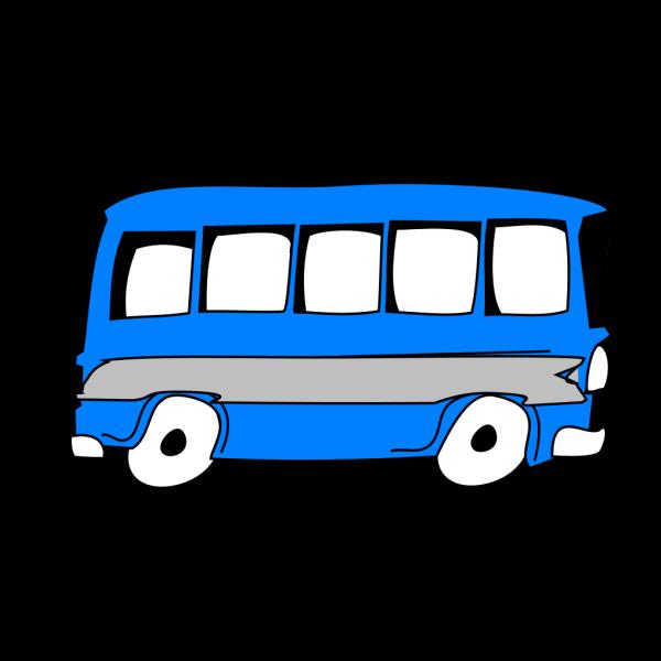 Big Blue Bus PNG Clip art