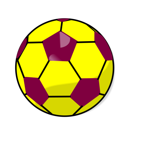 Blue And Yellow Soccerball PNG Clip art