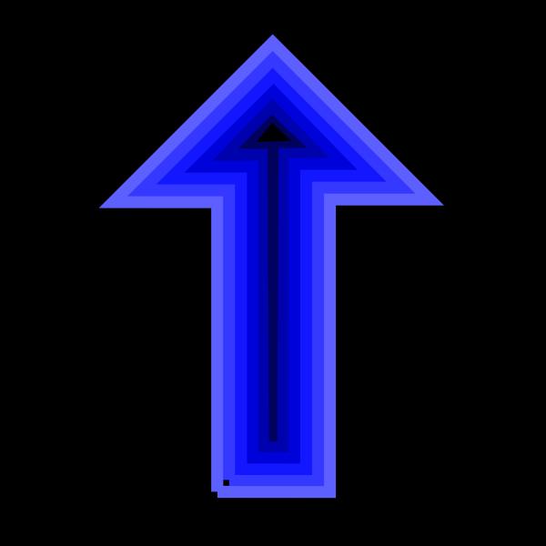 Blue Arrow PNG image