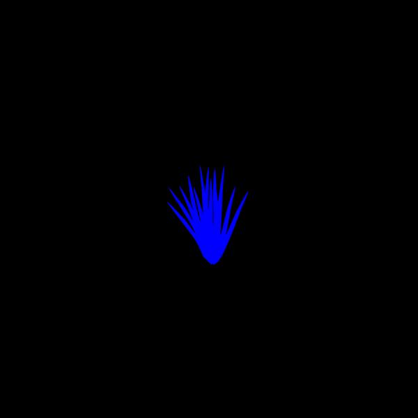 Blue Grass Tuft PNG Clip art