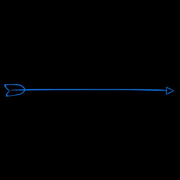 Long Blue Arrow Right PNG Clip art