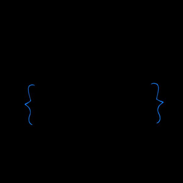 Blue Brackets PNG Clip art