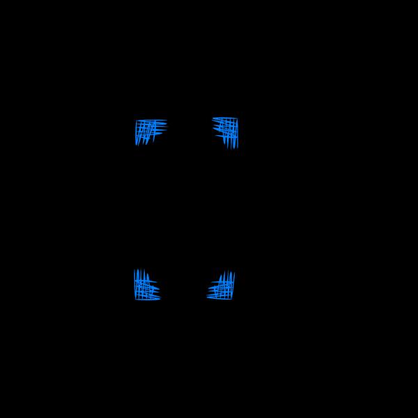 Blue Cross Hatch Shading Frame PNG images
