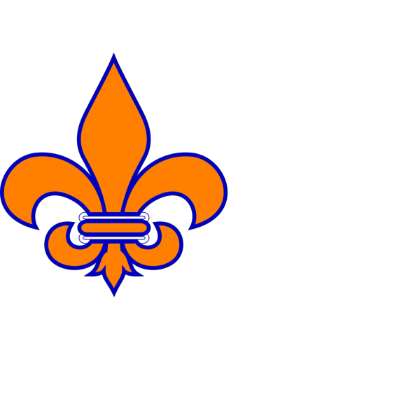 Orange And Blue Fleur De Lis PNG Clip art