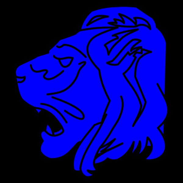 Lion Head Blue PNG Clip art