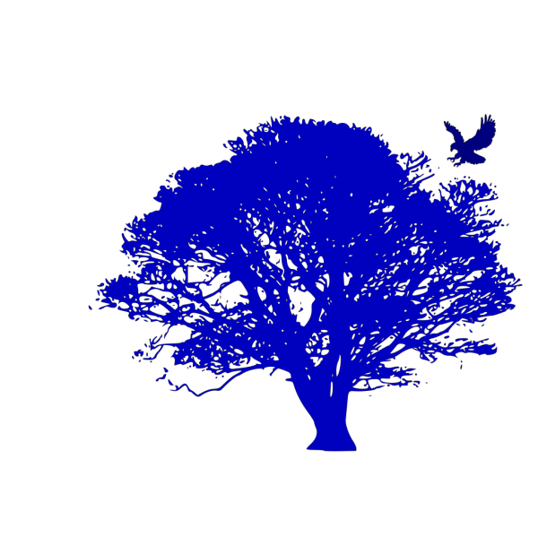 Blue Oak And Hawk PNG Clip art