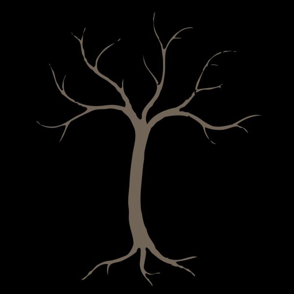 Blue Dead Tree PNG Clip art