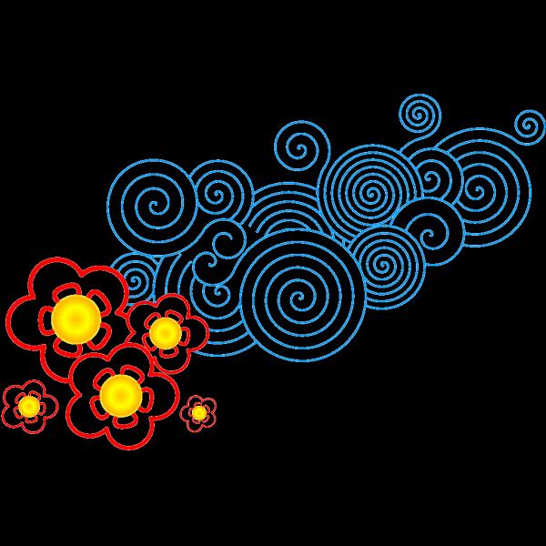 Floral Design Blueok PNG Clip art