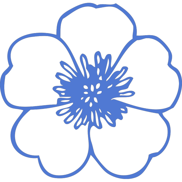 Flor Certa Blue PNG Clip art