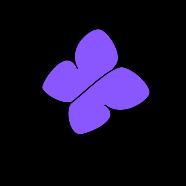 Blue/purple Butterfly PNG Clip art