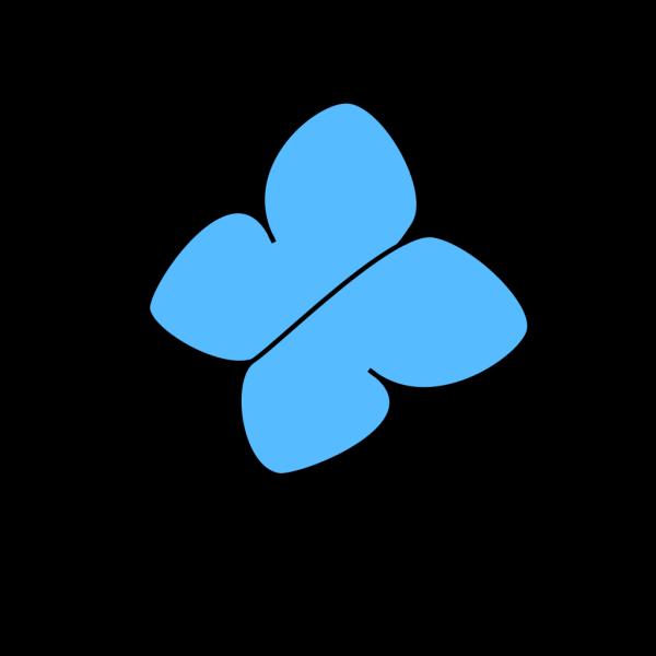 Light Blue Butterfly 2 PNG Clip art