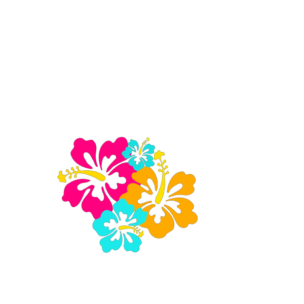 Hibiscus Flowers 4 PNG Clip art