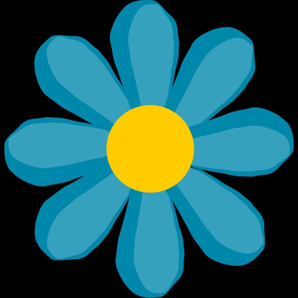Blue Flower PNG Clip art