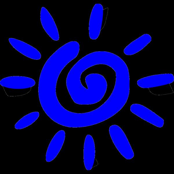 Blue Sunsan PNG Clip art