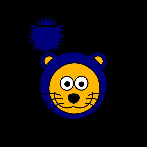 Cartoon Blue Gold Lion  PNG Clip art