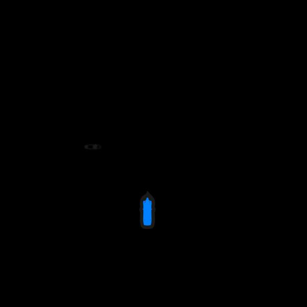Blue Car - Top View - 60 PNG Clip art
