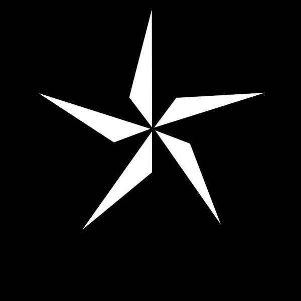 Navy Blue & Black Texas Star PNG Clip art