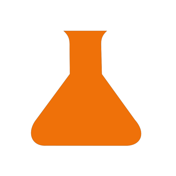 Orange Science Flask PNG images