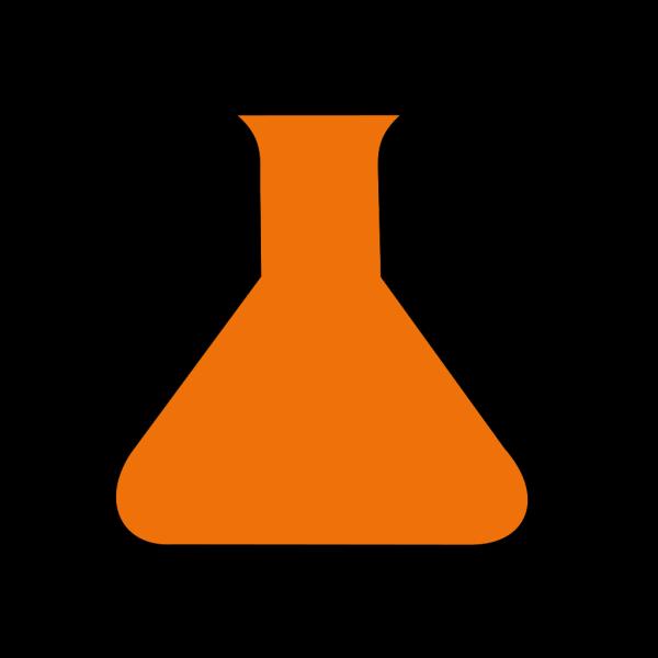 Orange Science Flask PNG images