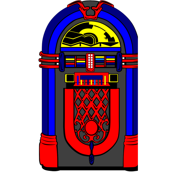 Pink And Blue Jukebox 2 PNG Clip art