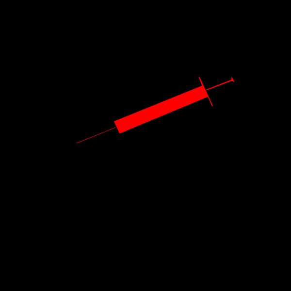 Blue Syringe. PNG Clip art