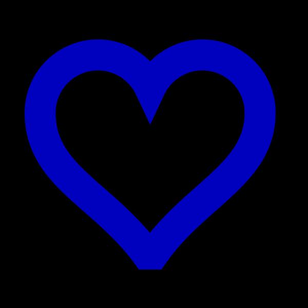 Open Blue Heart PNG Clip art
