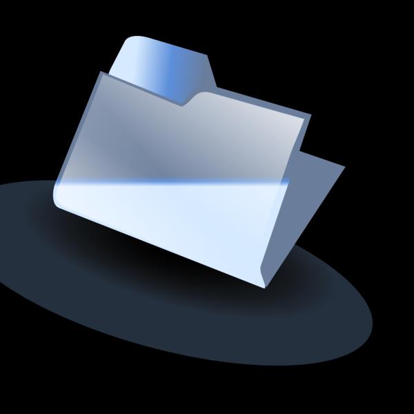 Blue Closed Folder PNG Clip art